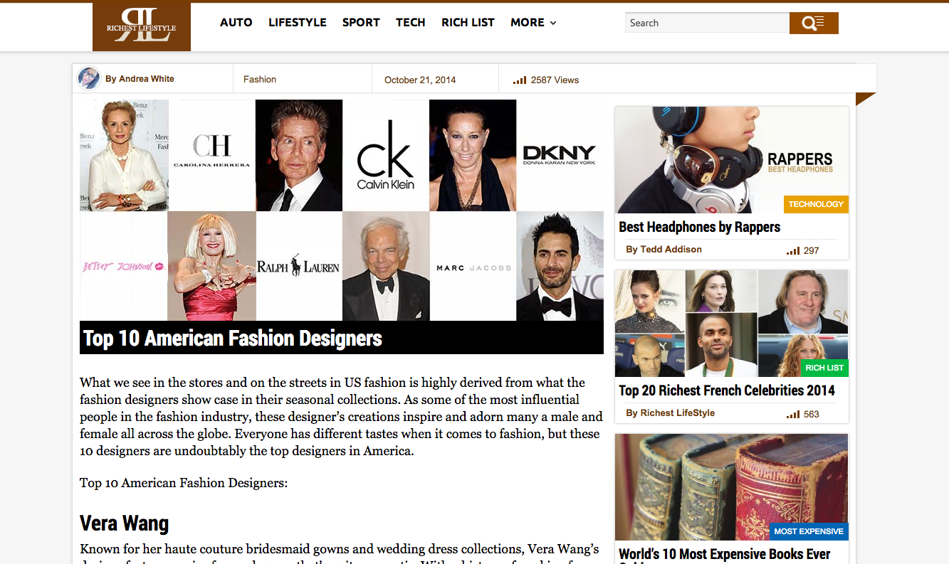 Top 10 American Fashion Designers