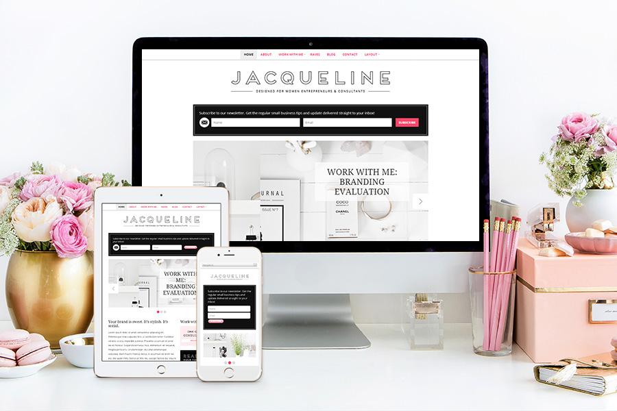 BluChic Feminine Wordpress Theme Jaqueline